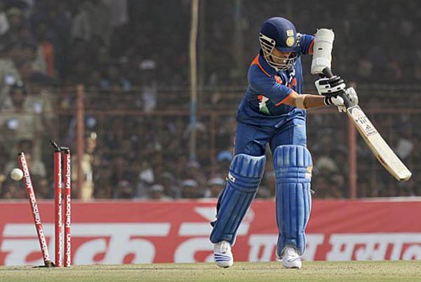 Sachin Tendulkar bowled