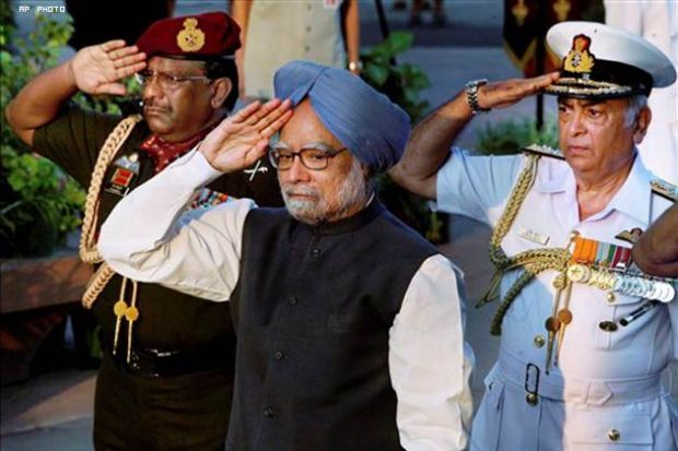 Prime Minister saluting the Indian Army
